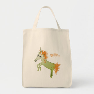 """Ugly Unicorn"" Tote Bags"