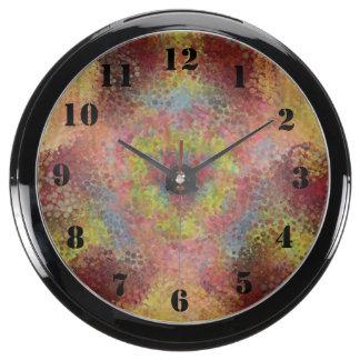 ugly unpleasant pattern fish tank clock