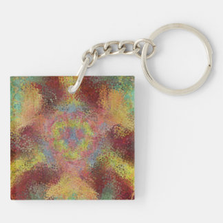 ugly unpleasant pattern Double-Sided square acrylic keychain
