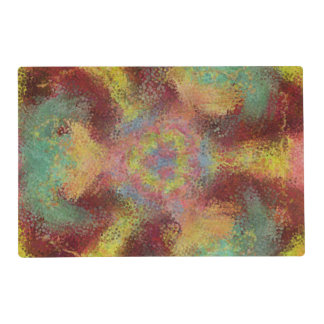 ugly unpleasant pattern laminated placemat