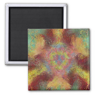 ugly unpleasant pattern square magnet