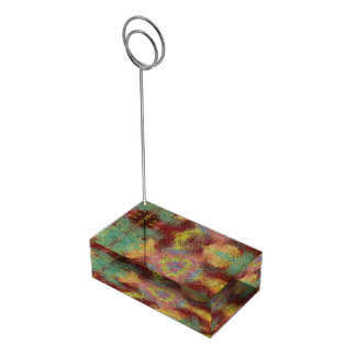 ugly unpleasant pattern table card holder