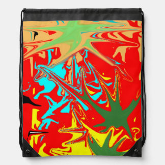 Ugly unusual colorful blot cinch bags