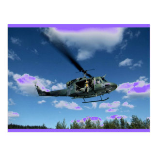 UH1 50 HELICOPTER POSTCARD