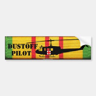 "UH-1 ""Huey"" DUSTOFF PILOT VSM Bumper Sticker"