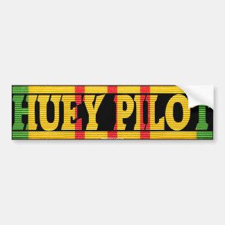 UH-1 Huey Pilot Vietnam Service Ribbon Sticker Bumper Sticker