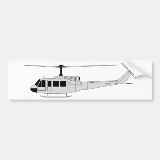UH-1 Profile - Utility Helicopter Bumper Sticker