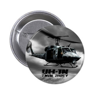 UH-1N Twin Huey 6 Cm Round Badge