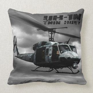 UH-1N Twin Huey Throw Pillow