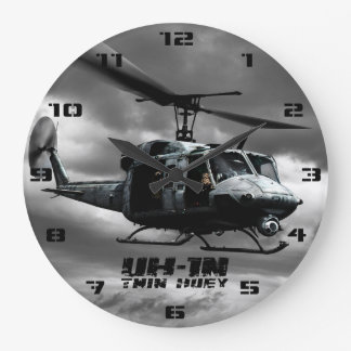 UH-1N Twin Huey Large Clock