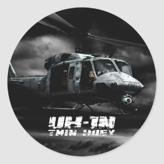 UH-1N Twin Huey Round Sticker
