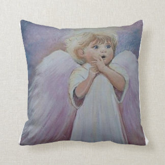 Uh Oh Angel Throw Pillow