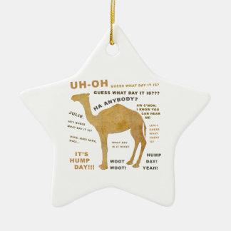 Uh Oh Guess What Day it Is? HUMP DAY!!! WOOT! Christmas Ornament