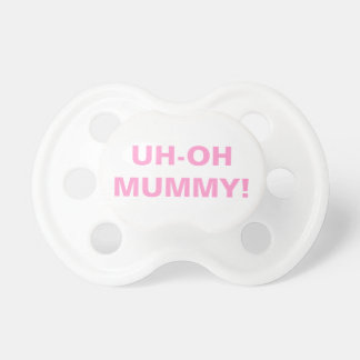UH-OH MUMMY! BooginHead® Pink Baby Pacifier Dummy