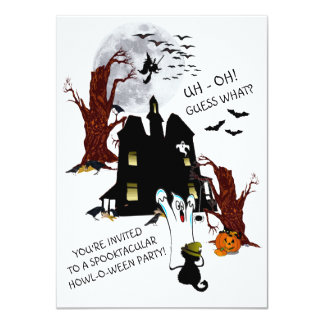 Uh Oh! - Spooktacular Howl-O-Ween Party Invitation