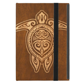 Uhane Honu Faux Wood Hawaiian Turtle Case For iPad Mini