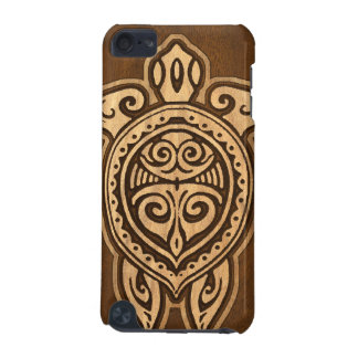 Uhane Honu Faux Wood Hawaiian Turtle iPod Touch (5th Generation) Cases