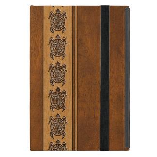 Uhane Honu Faux Wood Hawaiian Turtle Stripe iPad Mini Case