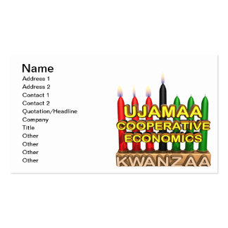 Ujamaa Double-Sided Standard Business Cards (Pack Of 100)