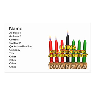 Ujima Pack Of Standard Business Cards