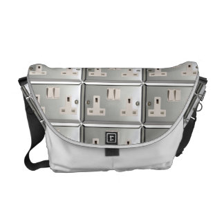 UK AC BS 1363 Plug Socket [British Standard] Messenger Bag