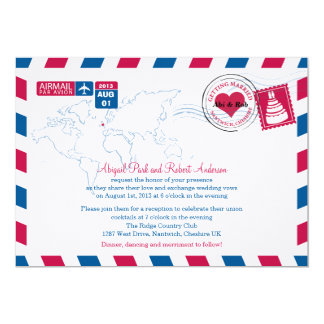 UK Air Mail Wedding Card