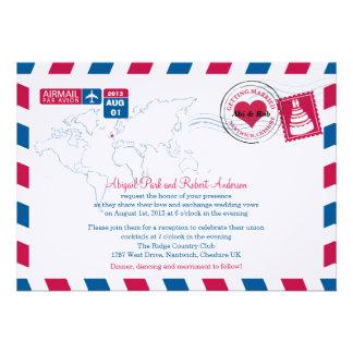 UK Air Mail Wedding Invites
