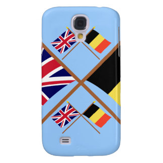 UK and Belgium Crossed Flags Galaxy S4 Case