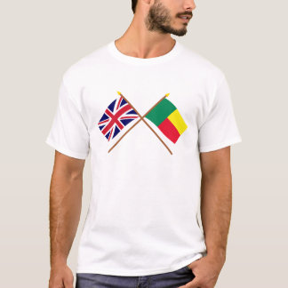 UK and Benin Crossed Flags T-Shirt