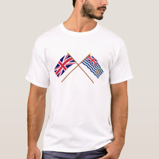 UK and BIOT Crossed Flags T-Shirt