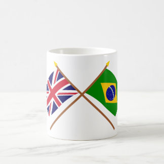 UK and Brazil Crossed Flags Coffee Mug