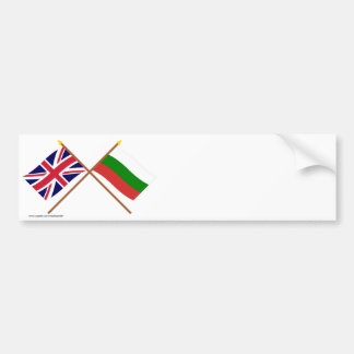 UK and Bulgaria Crossed Flags Bumper Stickers