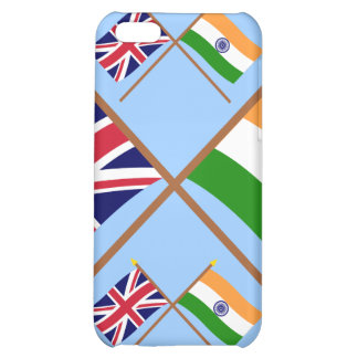 UK and India Crossed Flags iPhone 5C Case
