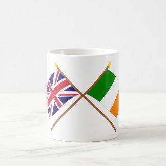 UK and Ireland Crossed Flags Basic White Mug