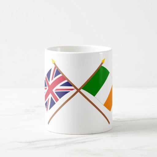 UK and Ireland Crossed Flags Mug