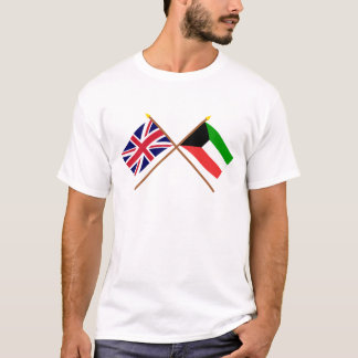 UK and Kuwait Crossed Flags T-Shirt