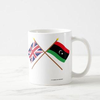 UK and Libya Crossed Flags Basic White Mug