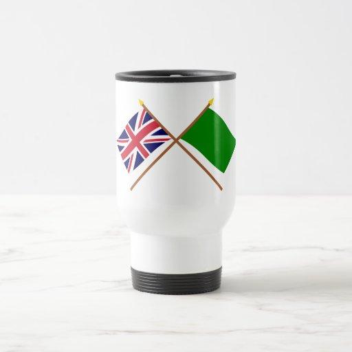 UK and Libya Crossed Flags Mug