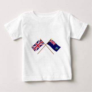 UK and Montserrat Crossed Flags Baby T-Shirt