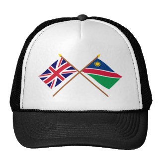 UK and Namibia Crossed Flags Trucker Hat