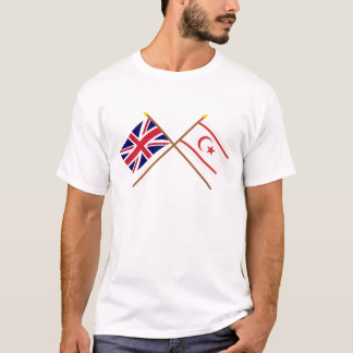 UK and North Cyprus Crossed Flags T-Shirt