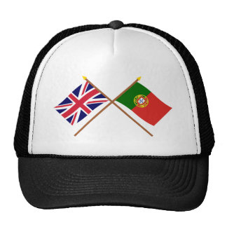 UK and Portugal Crossed Flags Cap