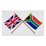 UK and South Africa Crossed Flags