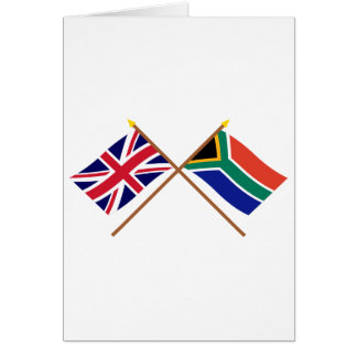 UK and South Africa Crossed Flags Greeting Card