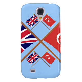 UK and Turkey Crossed Flags Galaxy S4 Case