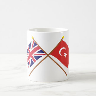 UK and Turkey Crossed Flags Coffee Mug