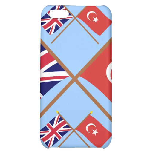 UK and Turkey Crossed Flags iPhone 5C Cover