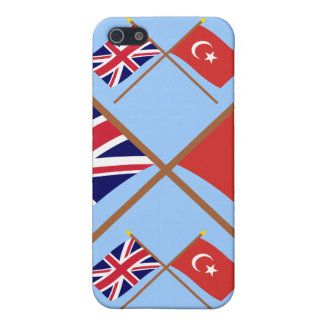 UK and Turkey Crossed Flags iPhone 5 Case
