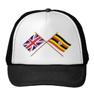 UK and Uganda Crossed Flags Cap