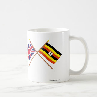 UK and Uganda Crossed Flags Coffee Mug